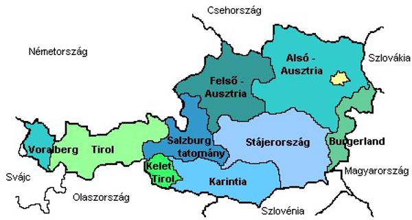 Ausztriai munka régiók