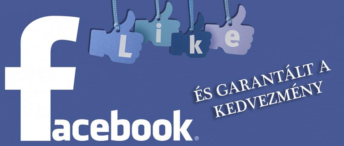 Facebook like kedvezmény